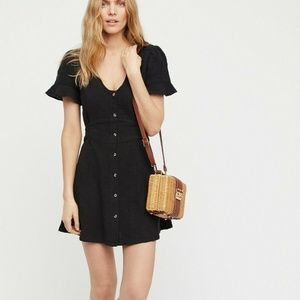 Free People Life Is Sweeter Buttondown Dress S
